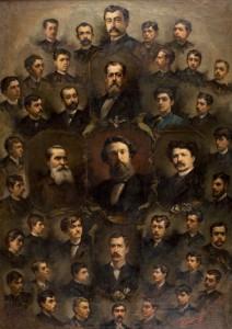 Alexandru Bănulesu, Profesorii Școlii de belle arte, 1888