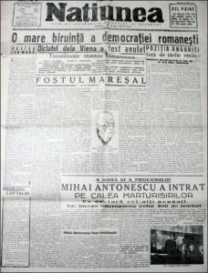 Națiunea - numărul din 10 mai 1946