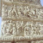 Arcul lui Galeriu din Salonic. Cele patru registre sculptate.